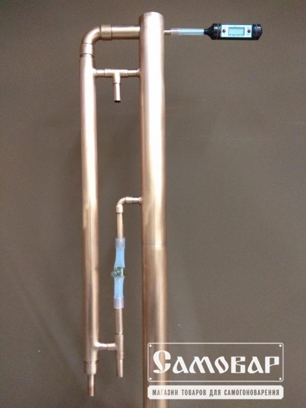 Медная пленочная колонна (БОЛЬШАЯ) + бак 20л 2 3