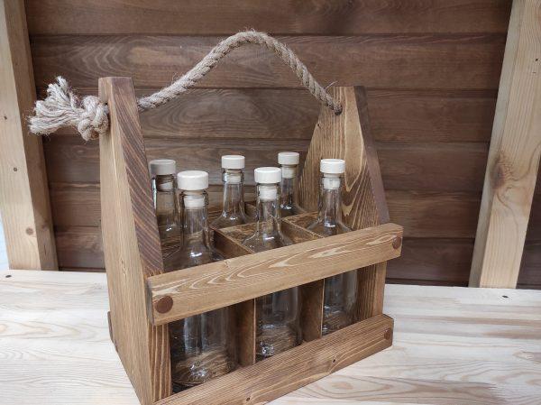 Ящик деревянный под 6 бутылок